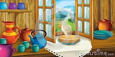 cartoon kitchen fashioned fairy tale interior