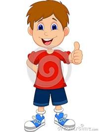 Cartoon Boy Giving You Thumbs Up Stock Photo - Image: 33236570