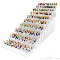 stair cartoon crowd steps symbolic isolated figures 3d preview dreamstime