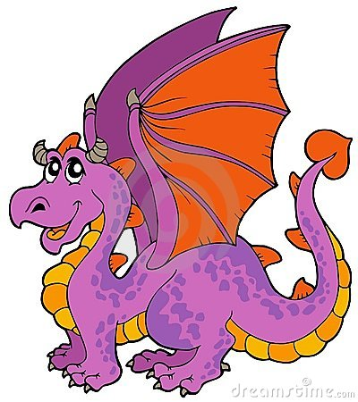 Cartoon Dragon With Big Wings Stock Images Image 13640604