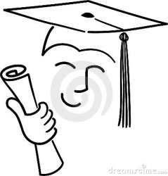 graduate cartoon drawings drawing ai diploma line outline human simple university face making way board illustration easy google would royalty