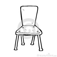 Cartoon Old School Chair Royalty Free Stock Photos - Image ...