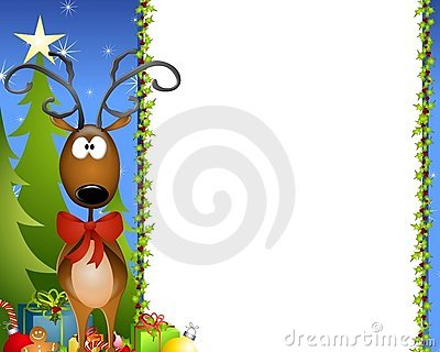 Cartoon Reindeer Border 2 Stock Images Image 6927954