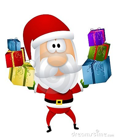 Cartoon Santa Claus Gifts Royalty Free Stock Photo Image