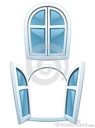 cartoon windows open closed vector dreamstime