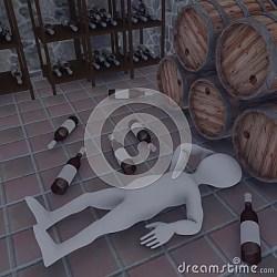 cellar cartoon render character 3d