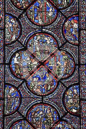 Chartres  Cathedral Stained Glass Stock Photo  Image