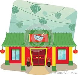 restaurant chinese cartoon background lanterns illustration eps10 mr