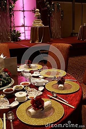 Chinese Wedding Table Setting Stock Photos  Image 3669293