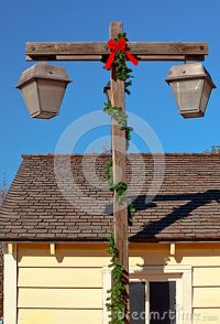 Christmas Lamp Post Old San Diego Royalty Free Stock