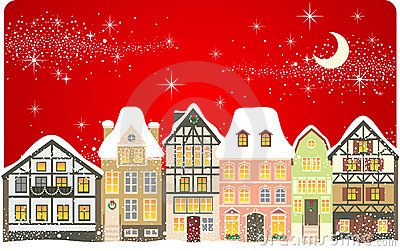 Christmas Town Royalty Free Stock Photography Image