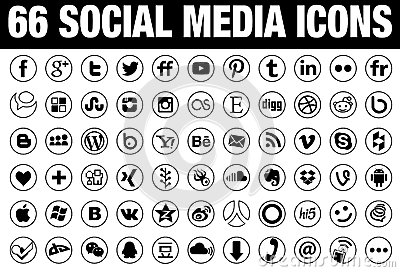with tin borders66 round social media icons with tin borders