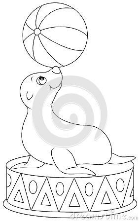 Between The Balls Is The Seal Book Coloring Pages