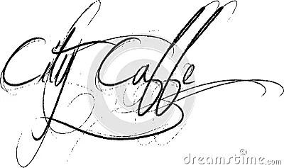 City Caffe Script Text