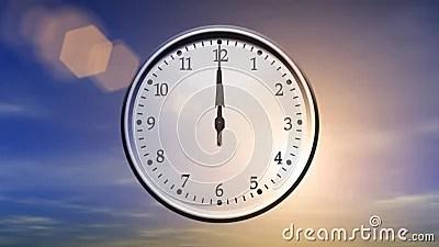 Clock Spinning 24 Hours Loop Stock Video Video 43673279