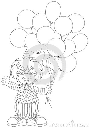 Clown With Balloons Royalty Free Stock Photos Image