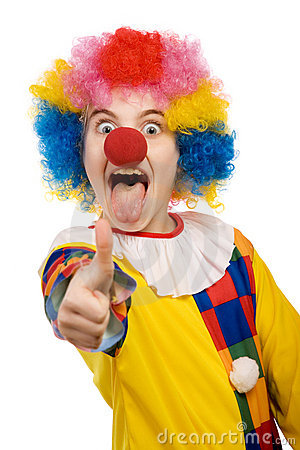Clown Showing Thumbs Up Royalty Free Stock Photos Image