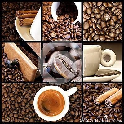 Coffee Collage Stock Photo Image 13379150