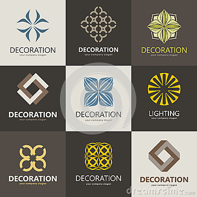 Vector Logo Design Home Decor Decoration Stock Vector Image