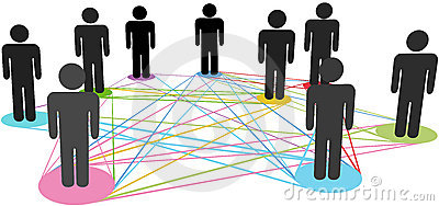Color Connections Network Social Business People Royalty Free Stock Photos - Image: 21410248