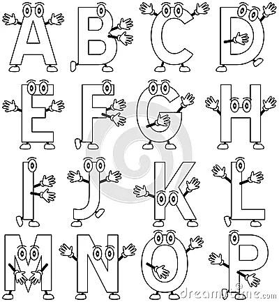 Coloring Cartoon Alphabet 1 Stock Photography Image