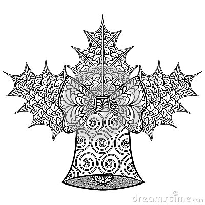 Coloring Pages With Christmas Decorative Bell And