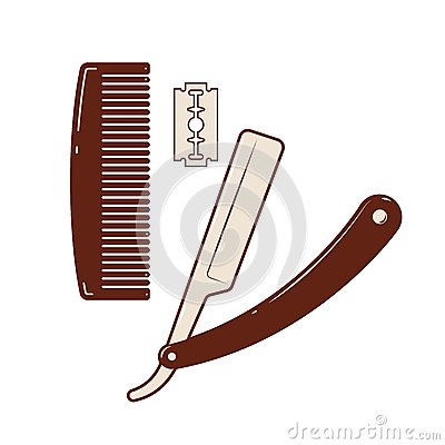 b razor stock vector image