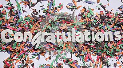 Congratulations Sign Stock Photography Image 34759992