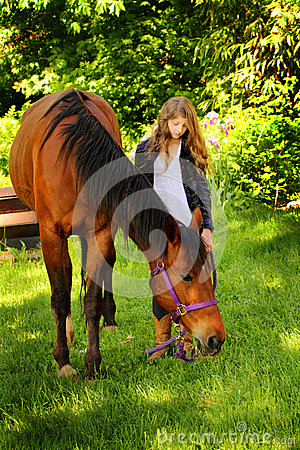 Country Girl Loves Horse Stock Image  Image 31017861