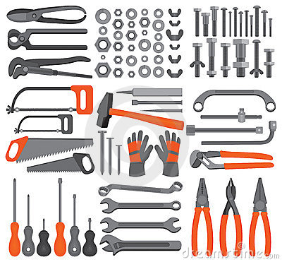 Craft Icons Hand Tools Set 4 Stock Image Image 11691961