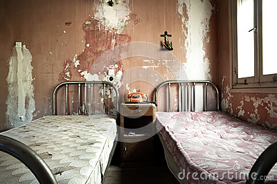 Creepy Dirty And Abandoned Bedroom Stock Photo Image