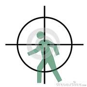 cross hairs and human target stock