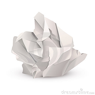 Crumpled Paper Ball Stock Photos Image 22445973