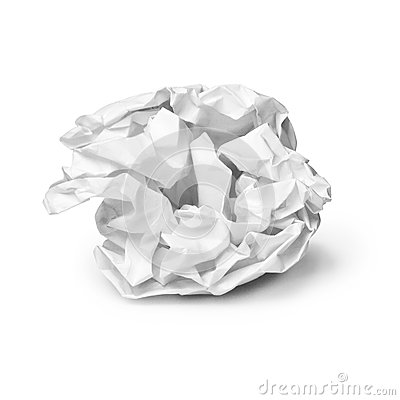 Crumpled Sheet Of Paper Royalty Free Stock Images Image