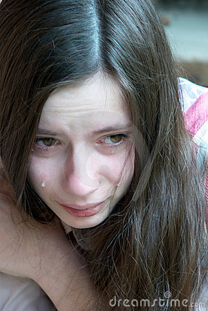 Crying Girl With Tears Stock Photography  Image 14196642