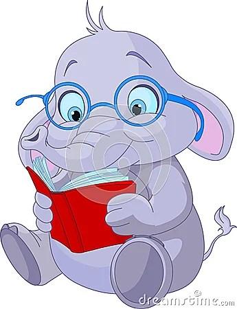 Cute Elephant Education Royalty Free Stock Photo Image