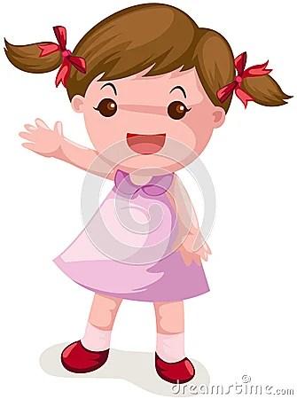 Cute Girl Waving Hand Stock Image Image 22859281