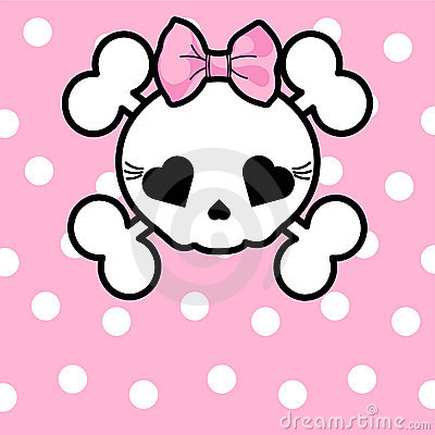 Cute Skull With Bow Royalty Free Stock Image Image 19272806