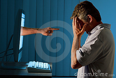 Cyber Internet Computer Bullying Man Stock Photos  Image 23780023