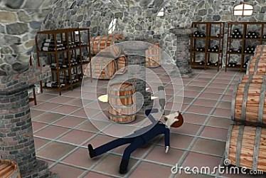cartoon drunk cellar businessman render 3d