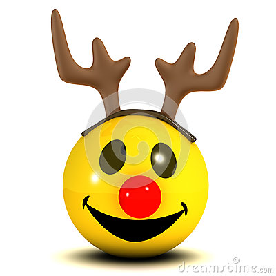 3d Smiley Reindeer Stock Illustration Image 41776140