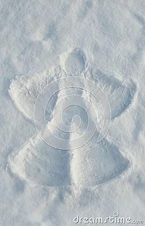 De Engel Van De Sneeuw Royalty Vrije Stock Fotos