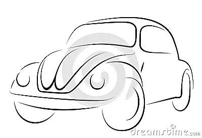De Kever Van Volkswagen Van De Auto Royalty-vrije Stock