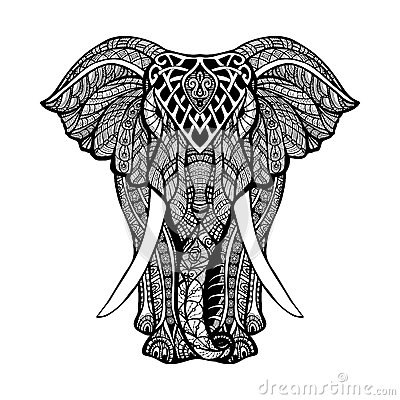 Decorative Elephant Illustration Stock Vector Image
