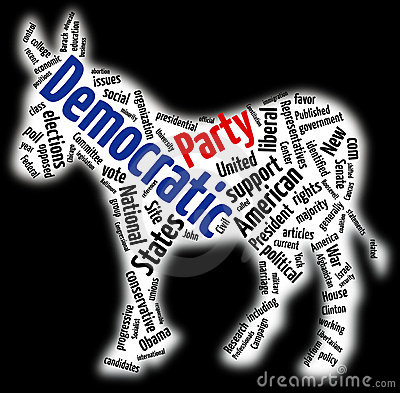 Democratic Party Word Cloud Editorial Stock Image  Image