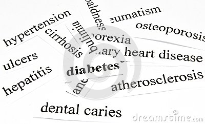 Diabetes. Health Care Concept Of Diseases Caused By