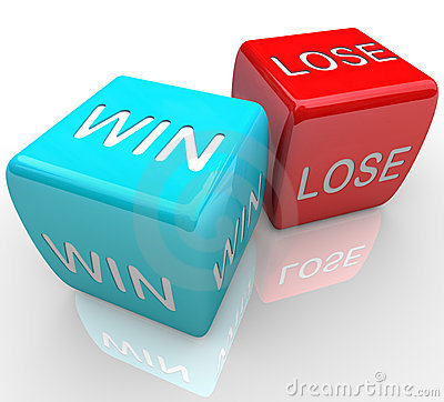 Dice  Win Vs Lose Stock Photography  Image 16124292