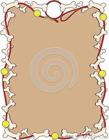 Dog Bone Border Stock Image Image 13557651