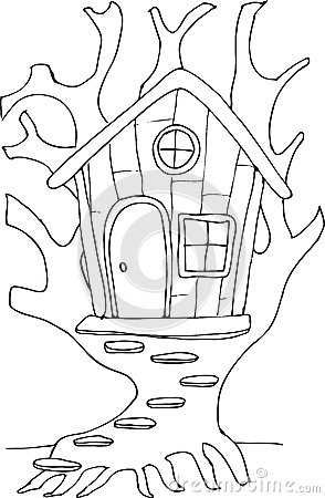Fairy Tree House Coloring Pages Coloring Pages