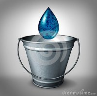 Drop In The Bucket Stock Illustration - Image: 46345923